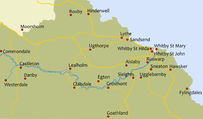 Interactive map of Whitby Deanery